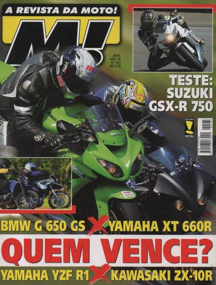 Moto! N°185 Suzuki Gsx-r 750 Yamaha Yzf R1 660r Ninja Zx-10r
