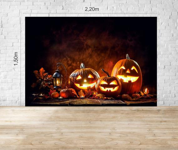 Fundo Fotográfico Em Tecido Halloween - Hlw02
