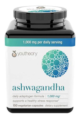 Imagem 1 de 4 de Ashwagandha Youtheory 1000 Mg 150 Cáps Natural Antiestresse
