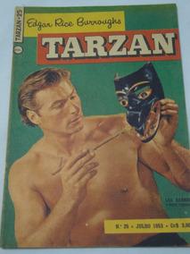 Tarzan Nº 25 De 1953 Lex Barker Ebal Com Figurinhas Ótimo
