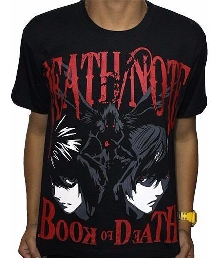 Camisas Camiseta De Animes Death Note - Ryuuku Raito L - New
