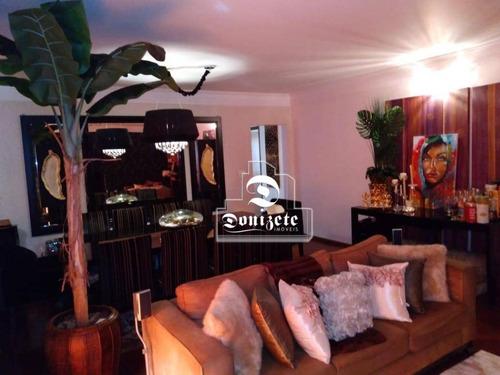 Apartamento Com 3 Dormitórios À Venda, 160 M² Por R$ 850.000,00 - Jardim - Santo André/sp - Ap16535