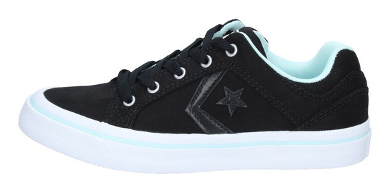 Zapatillas Converse Mujer Urbana Point Star Blanca Negra