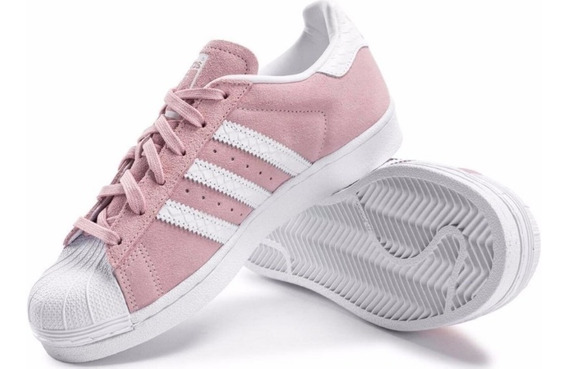 Tênis adidas Feminino Superstar Lindo Rosa