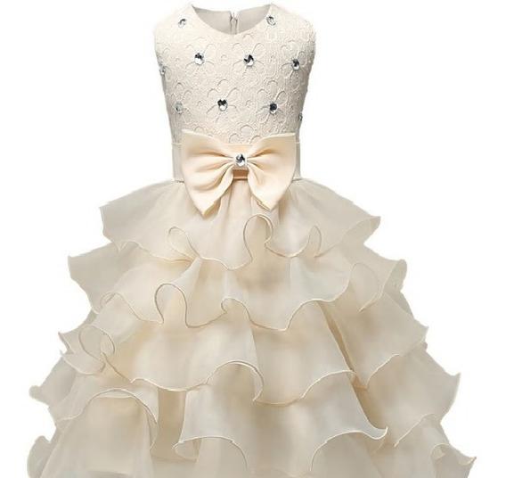 Vestido Infantil Para Aniversário, Casamento E Daminha.