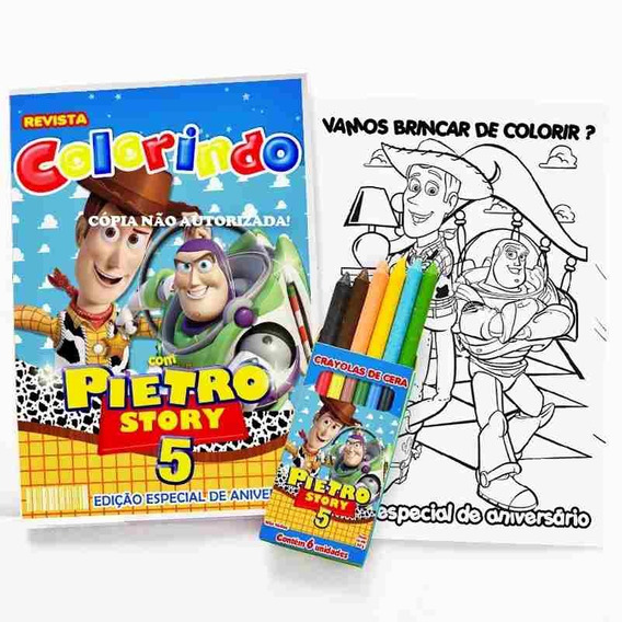 14 Kit Colorir Toy Story Lembrança Festa Personalizado