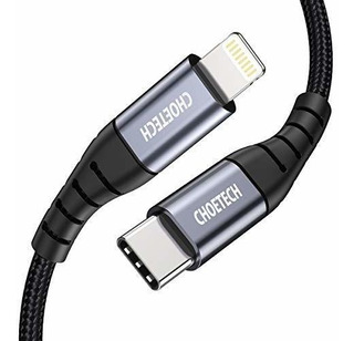 Choetech - Cable Usb C A Lightning (1,8 M, Certificado Apple