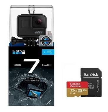 Câmera Go Pro Hero 7 Black + Cartão De Memoria 32gb