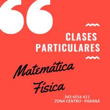 Clases Particulares De Matematicas Y Fisica - Parana