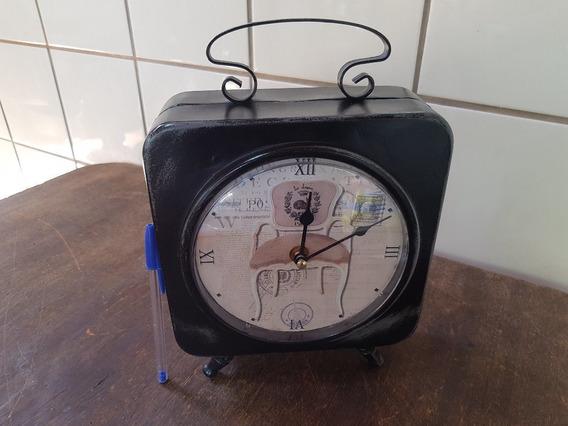 Relógio Retro Dupla Face Estilo Lanterna Funcionando
