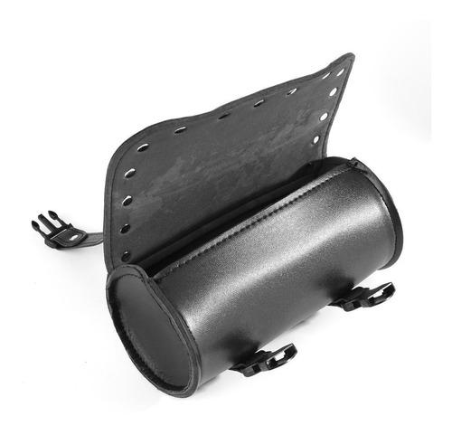 Black 24 del cuero del cr/áneo de la motocicleta del remache de la PU apretones de la mano w//palanca del freno de la franja de la borla de la cubierta para el corredor del caf/é de 22//25 mm Manillar