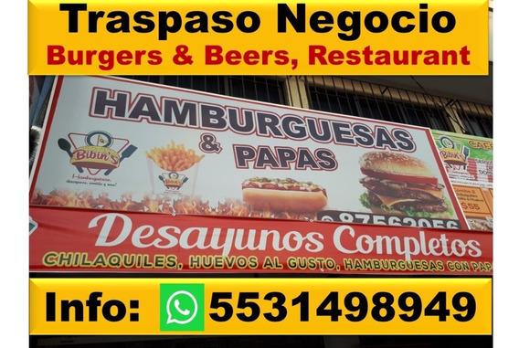 Traspaso Negocio Hamburguesas, Ensaladas Y Cafeteria
