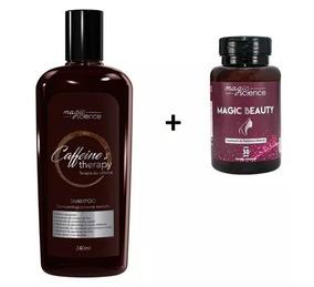Shampoo Caffeines Therapy + 6 Magic Beauty Pílula Da Beleza