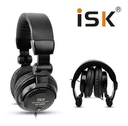 Fone Headphone Monitor Isk Hp-960b Dj Fechado P2 P10 Stereo