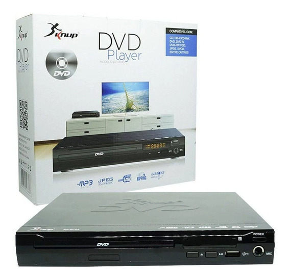 Dvd Player Entrada Usb Com Controle Karaoke Rw Kp-d103
