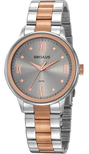 Relógio Feminino Seculus 2 Anos De Garantia 77058lpsvgs2