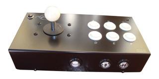 Playcade Full B & N, Joystick Arcade Mame Usb 10 Bot.+ Turbo
