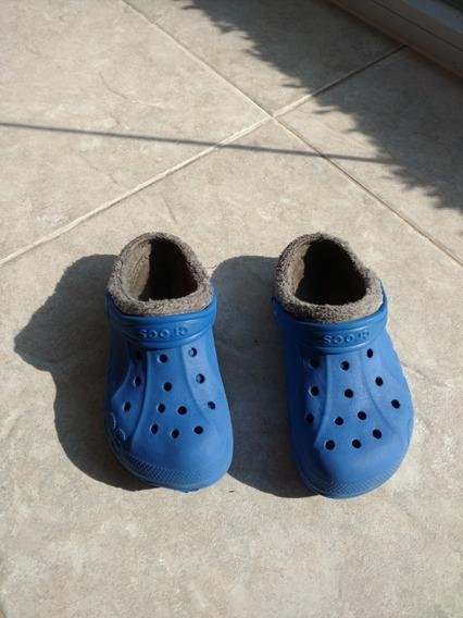Zuecos Crocs Originales Con Corderito Talle 12-13 Niños