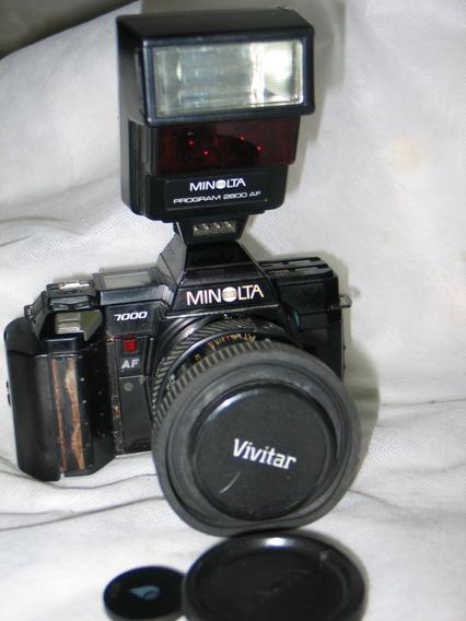 Camera Minolta 7000 Lente 35-70mm 35mm Analogica Leia Tudo!