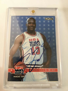 Autógrafo Original Certificado Shaq Oneal Nba Basketball Usa