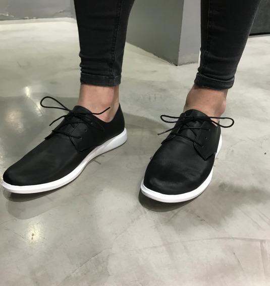Zapatos Hombre Farenheite Negro Sport En Punta