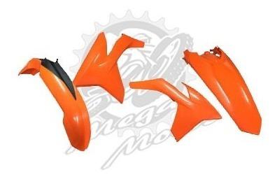Kit Plastico Roupa Ktm-exc Excf-125 500 2012 Laranj Racetech