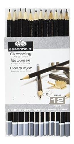 Set De Lapices De Dibujo Royal Y Langnickel Spen-12 Essentia