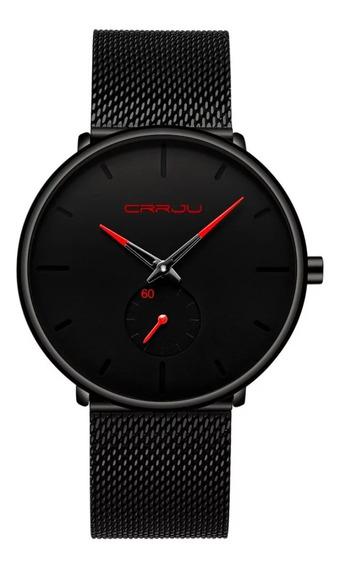 Relógio Masculino Crrju Pronta Entrega Funcional Social Luxo