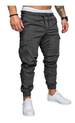 Jogger Cargo Hombre Bolsillos Pantalones Moda Gabardina Mercado Libre