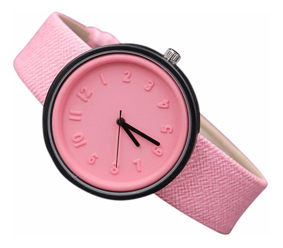 Relógio De Pulso Luxo Numerais Emborrachados