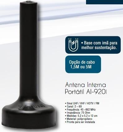Antena Tv Digital Portatil Hdtv Al-920i Indusat