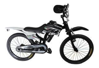 Bicicleta Tipo Moto Cross Rodado 20 Para Nenes Lamborghini