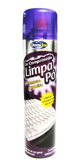 Ar Comprimido Aerossol Spray Limpa Pó 400ml 250g Domline
