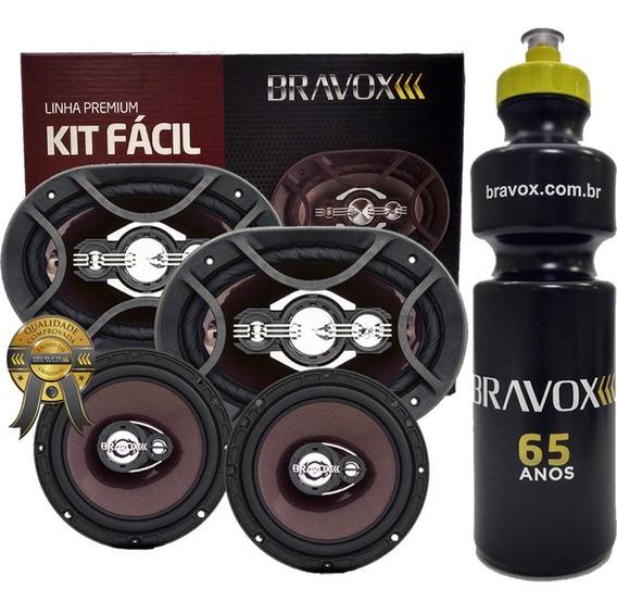 Kit Fácil P Alto Falante Bravox 6x9 E 6 300w Rms + Brinde