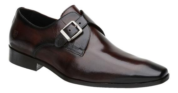 Sapato Monk Masculino Malbork Em Couro Marrom