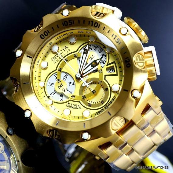 Relógio Invicta 27792 Dourado Ouro 18k Aço Híbrido 51mm Swis
