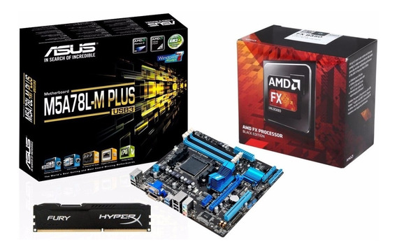 Kit Gamer Octa Core Fx 8300 + Asus M5a78m-usb 3.0 + 4gb