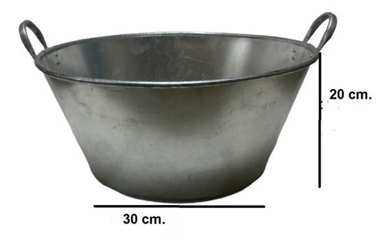 Paila Cazo Para Chicharrones Carnitas Galvanizada 40 Cm.