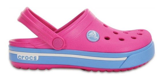 Crocs Kids Crocband Ii.5 Clog Neon Magenta/blue Bell