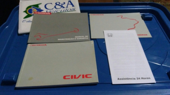 Manual Em Branco Civic Ano 2000 2001 2002 2003 Lxb Lx Ex 1.7
