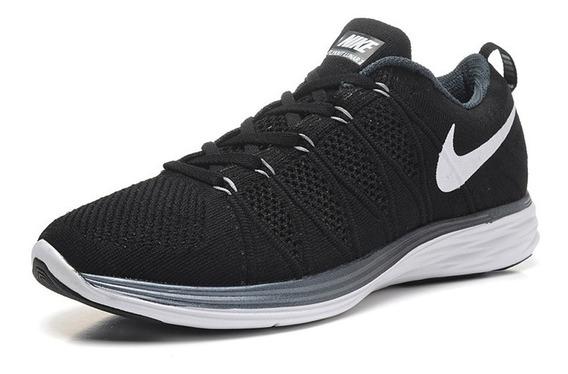 Tenis Nike Flyknit Lunar 2 Preto 41 Raro Casual Colecao