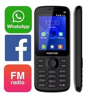 Celular Teclado Com Whatsapp Facebook Positivo P70 3g 2 Chip