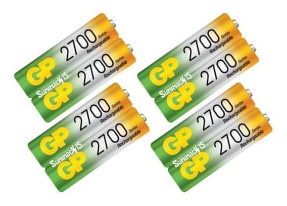 Baterias Recargables Aa Gp Nimh 2700mah Pack De 8