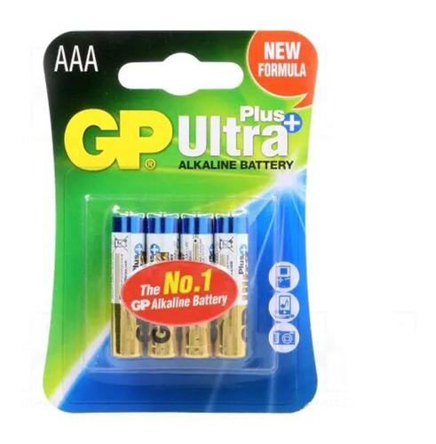 Imagen 1 de 3 de Pilas Gp Alcalinas Aaa Ultra Plus Pack X4 Febo