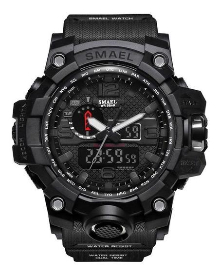 Relógio Masculino Esportivo Militar Smael 1545 Black