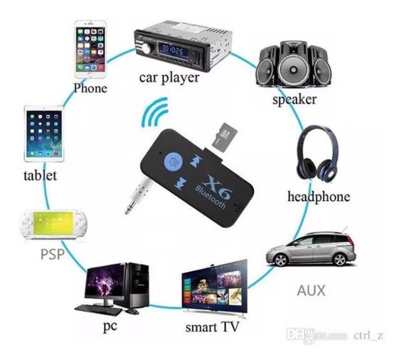 Receptor Audio Bluetooth Auxiliar Audio Para Reproductores D