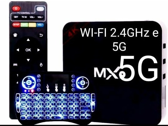 Tv Box + Mini Teclado Android 9.0 4gb/32gb