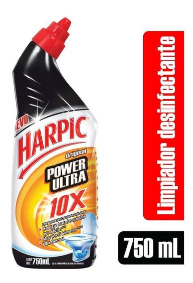 Limpiador Baño Inodoro Harpic Power Ultra Original 10x 750ml
