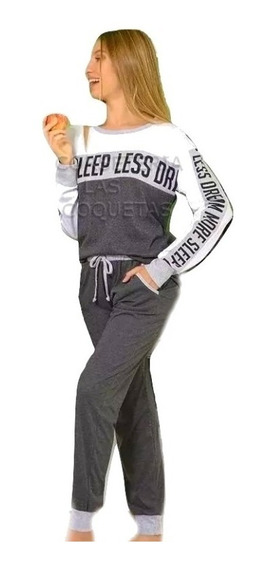 Pijama Mujer Remera C/puños + Babucha Lencatex 20315