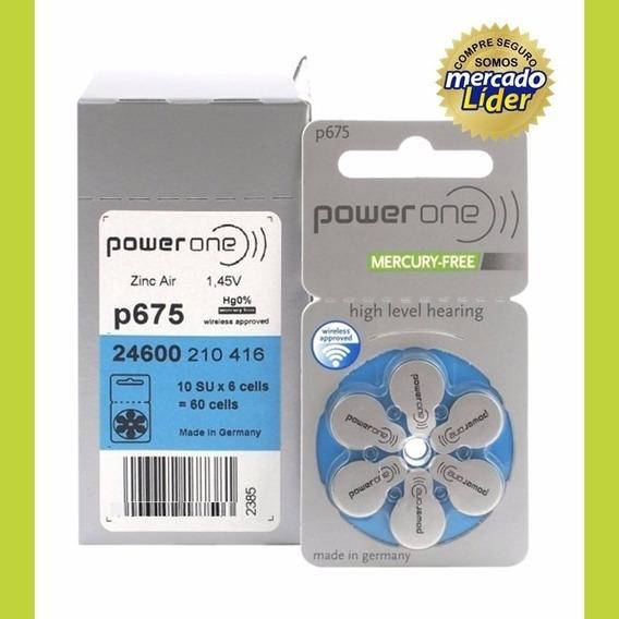 6 Pilhas Baterias P675 Pr44 Aparelho Auditivo - Power One